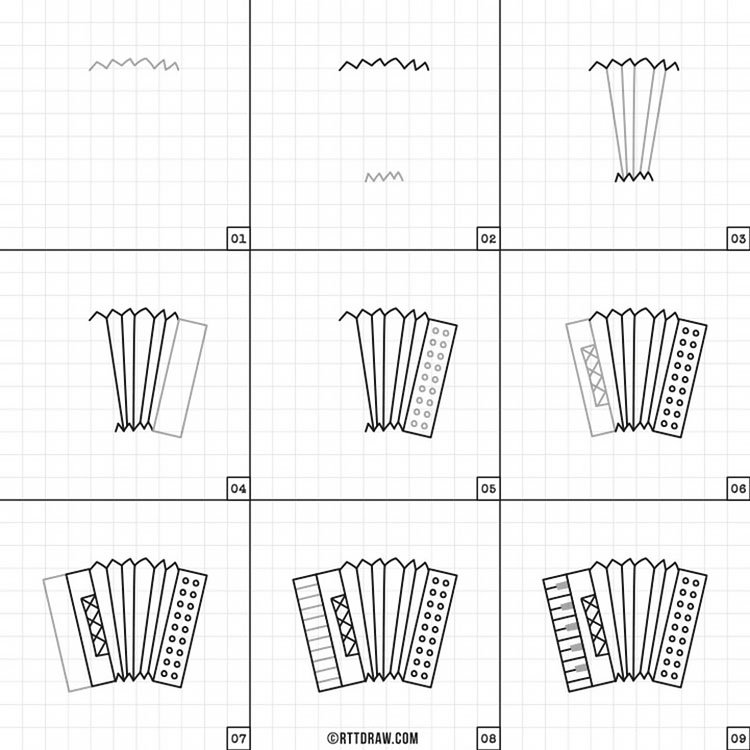 How to Draw an Accordeon