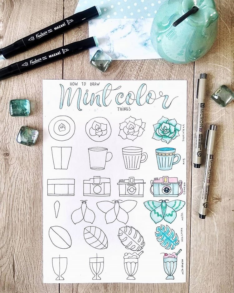 How to Draw Mint Color Things