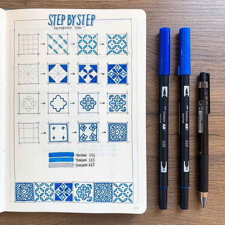 How to Draw Portuguese Tiles