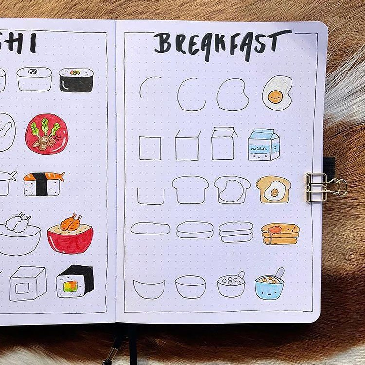 how to draw breakfast food