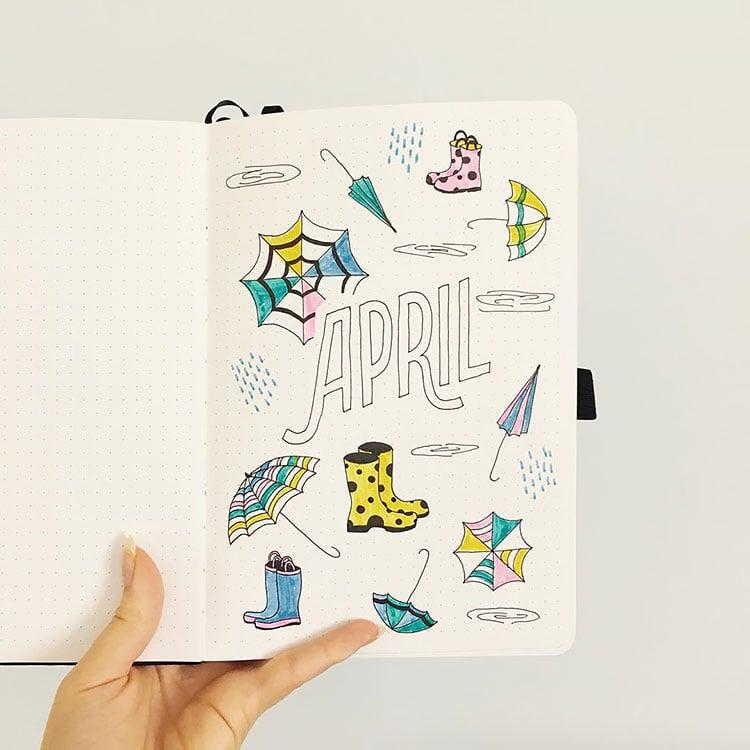 April showers doodles