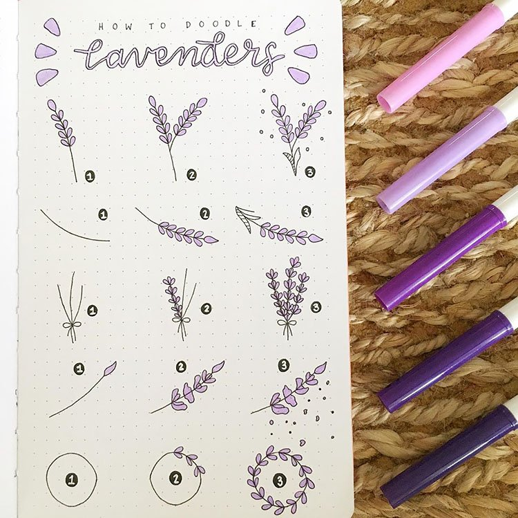 how to doodle lavenders