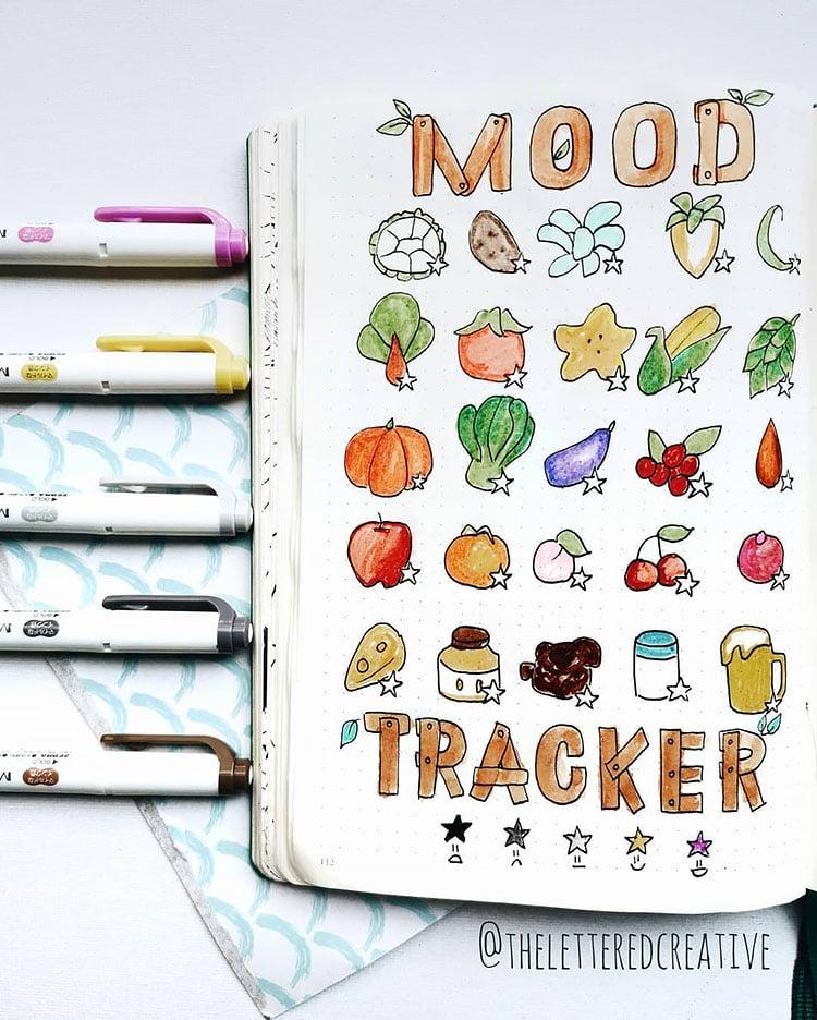 fruit and veggie mood tracker