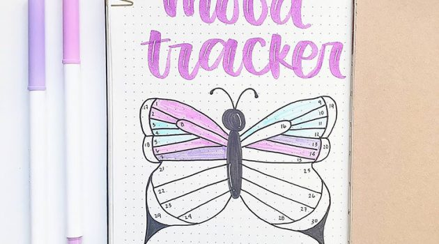 pastel butterfly mood tracker