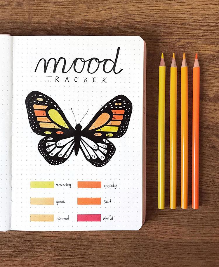 butterfly mood tracker