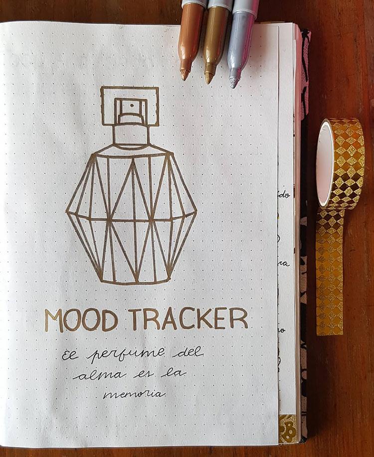 perfume bottle mood tracker