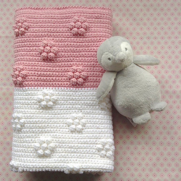 FLOWER PATCH BABY BLANKET