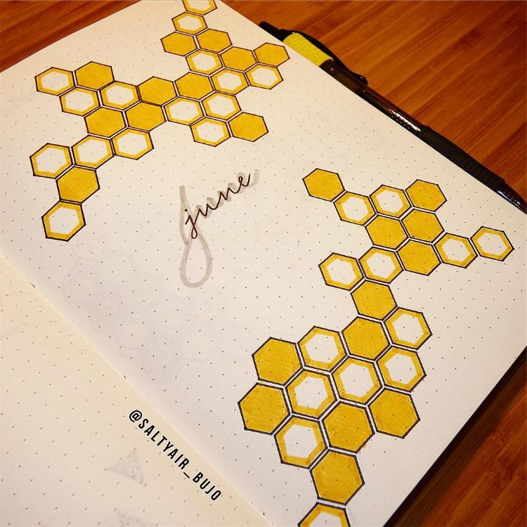 SIMPLE HONEYCOMB DRAWING
