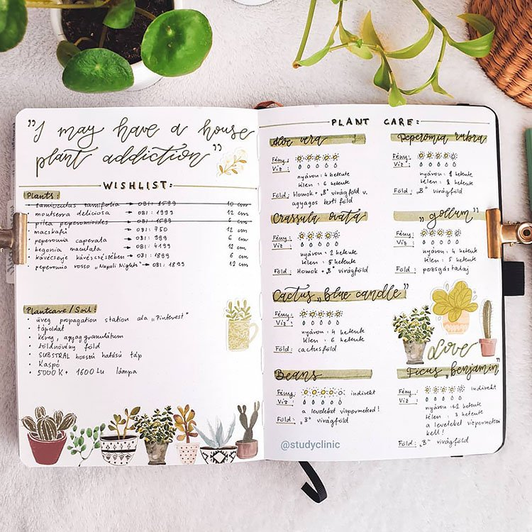 PLANT CARE TRACKER AND WISH LIST