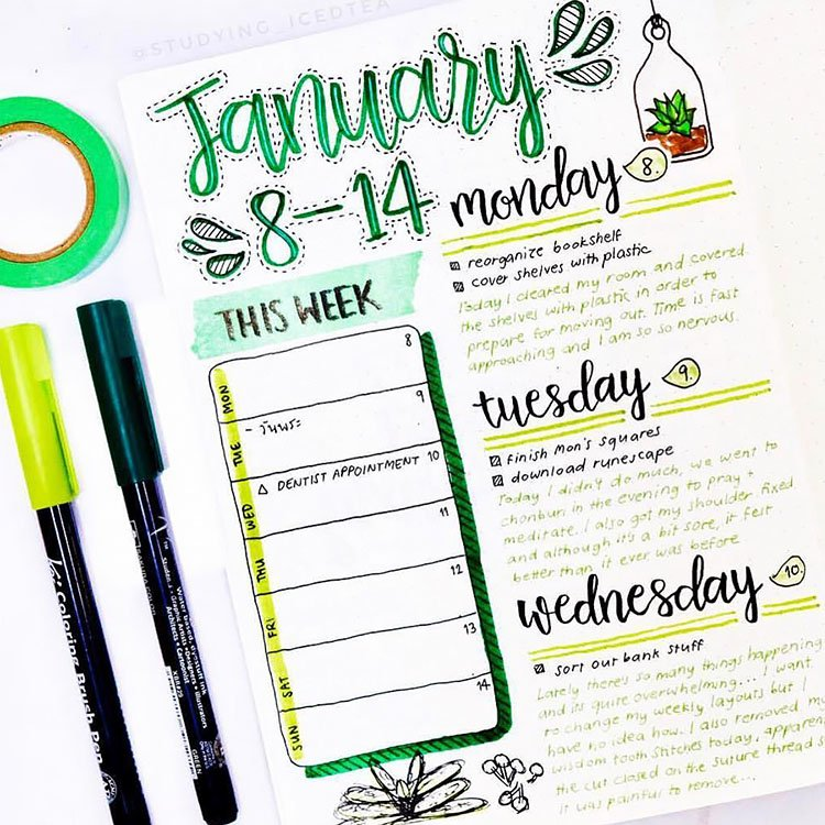 JANUARY WEEKLY PLANNER