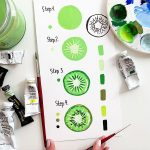 green bullet journal spreads 2