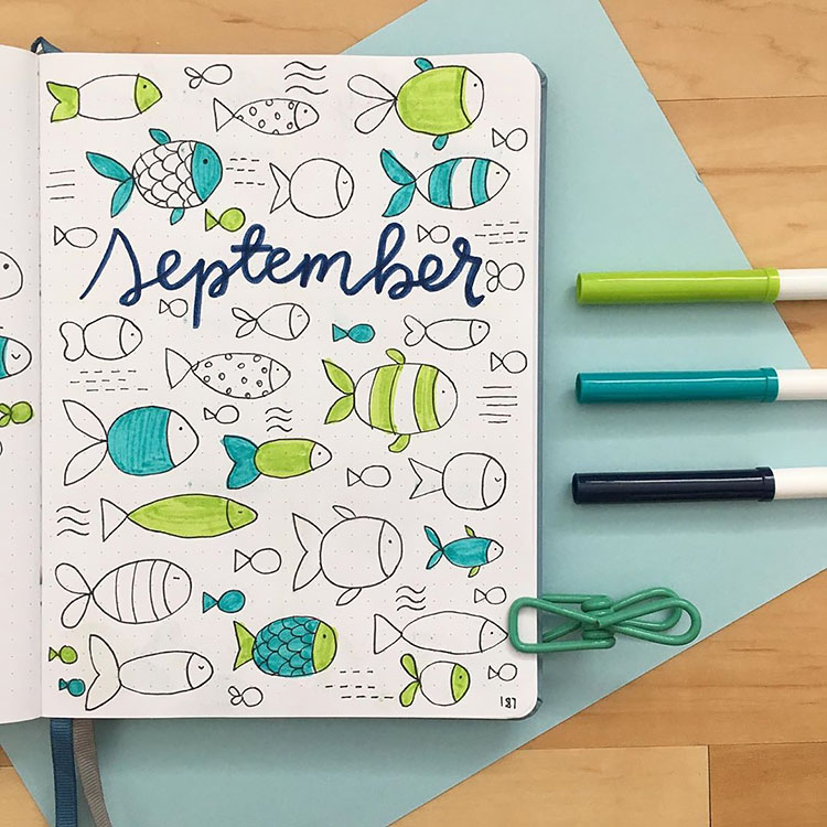 SEPTEMBER COVER WITH FISHES