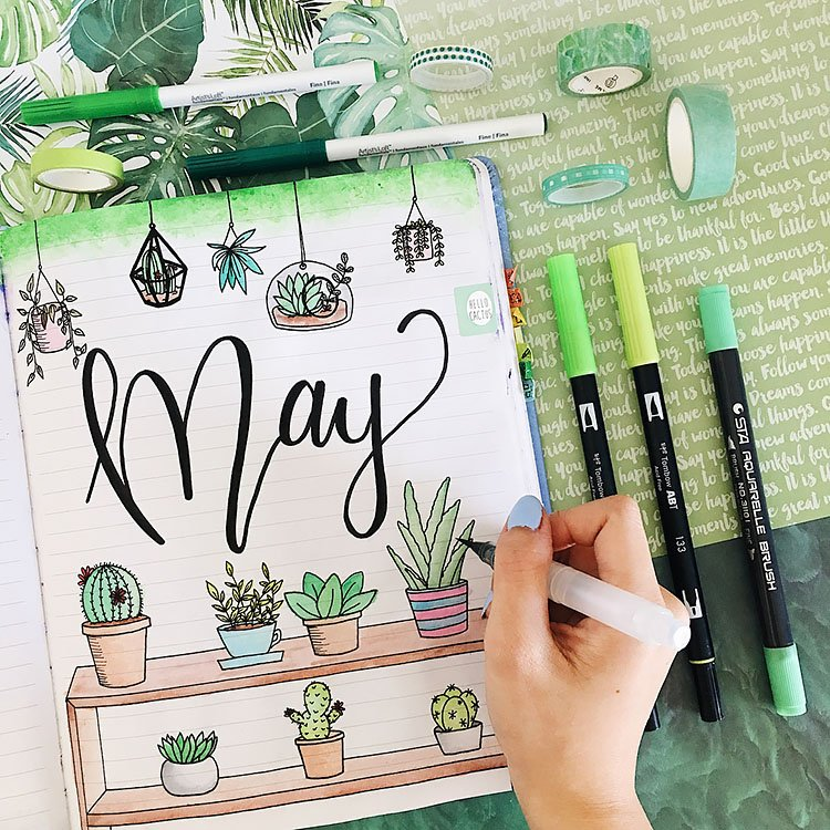 MAY COVER WITH PLANTS