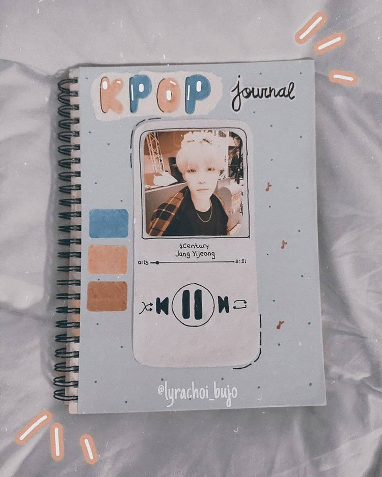 KPOP BULLET JOURNAL SPREAD WITH IPOD