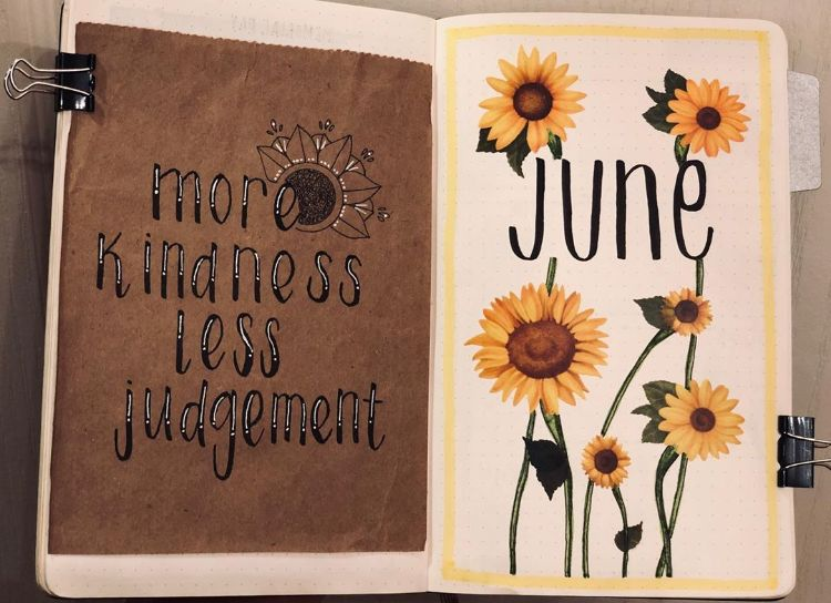 SUNFLOWERS AND QUOTE