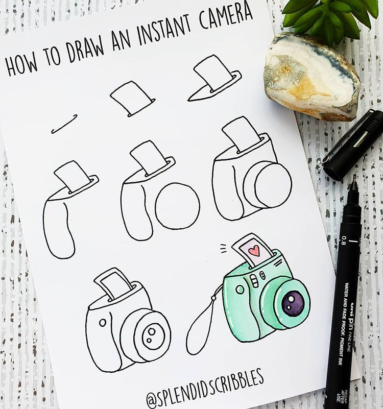 How to Draw and Instant Camera