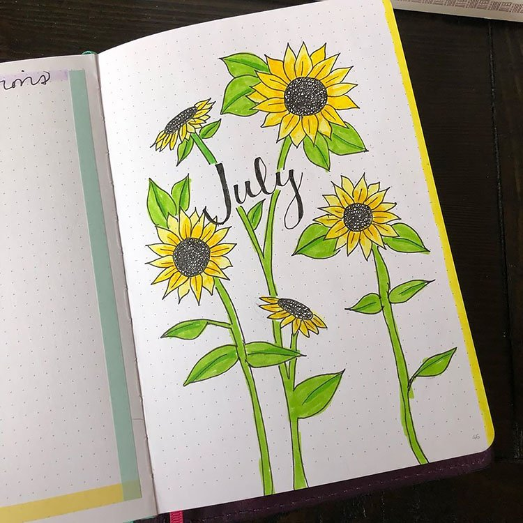 SUNFLOWERS JULY COVER PAGE