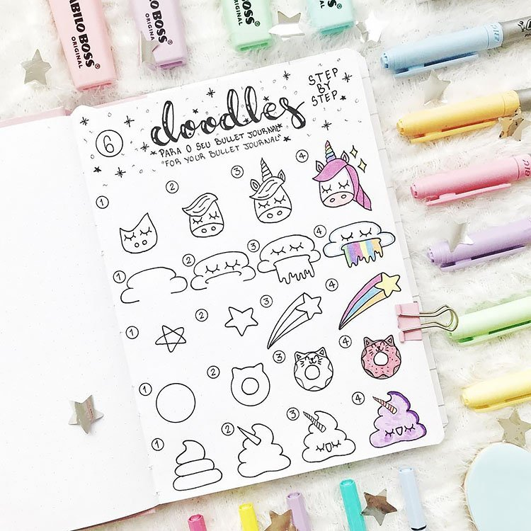 How to draw a unicorn doodle