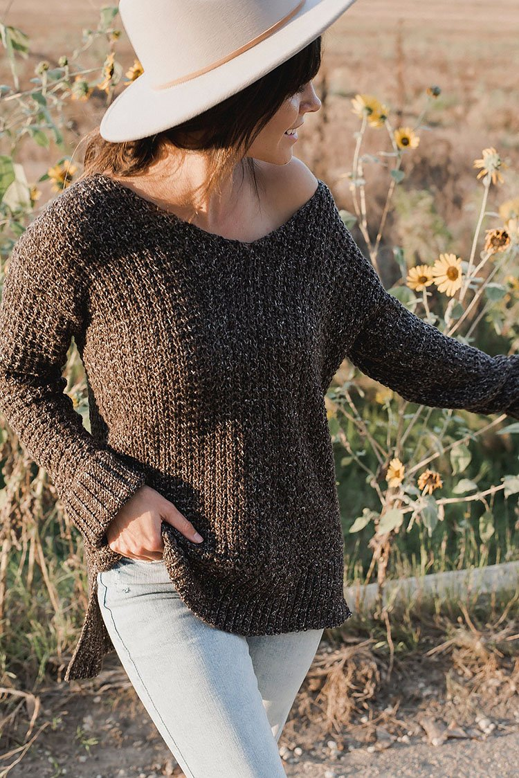 THE HOME GIRL SWEATER OFF THE SHOULDER