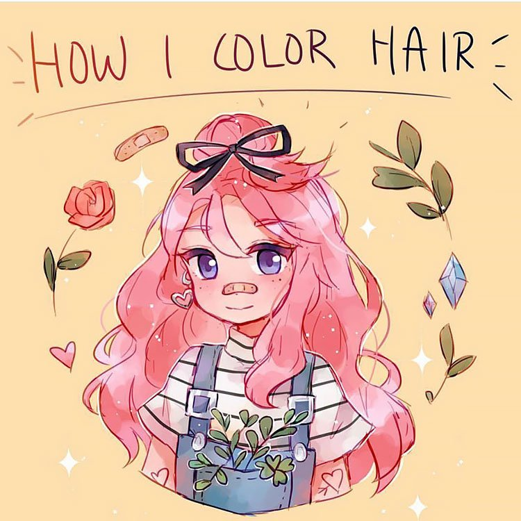 HOW TO COLOR HAIR WITH GIRL