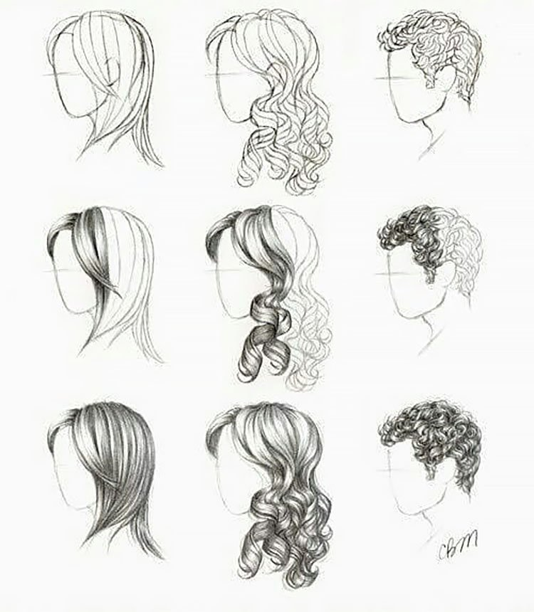 22 How To Draw Hair Ideas And Step By Step Tutorials Beautiful Dawn Designs