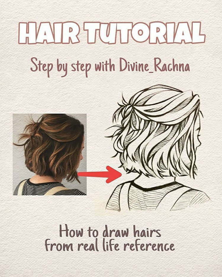 HOW TO DRAW HAIR FROM REAL LIFE REFERENCE