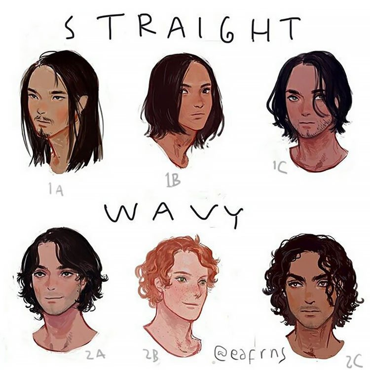 STRAIGHT AND WAVY HAIR FOR MEN