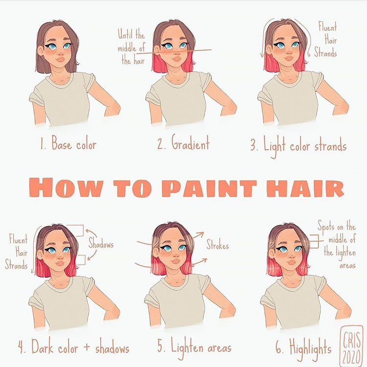 HOW TO PAINT HAIR TUTORIAL