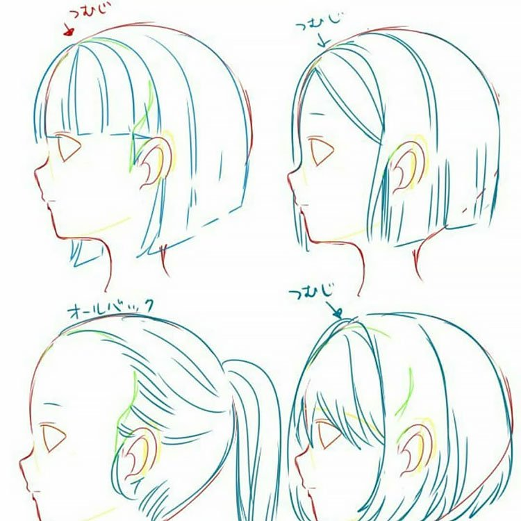 HAIR WITH AND WITHOUT BANGS