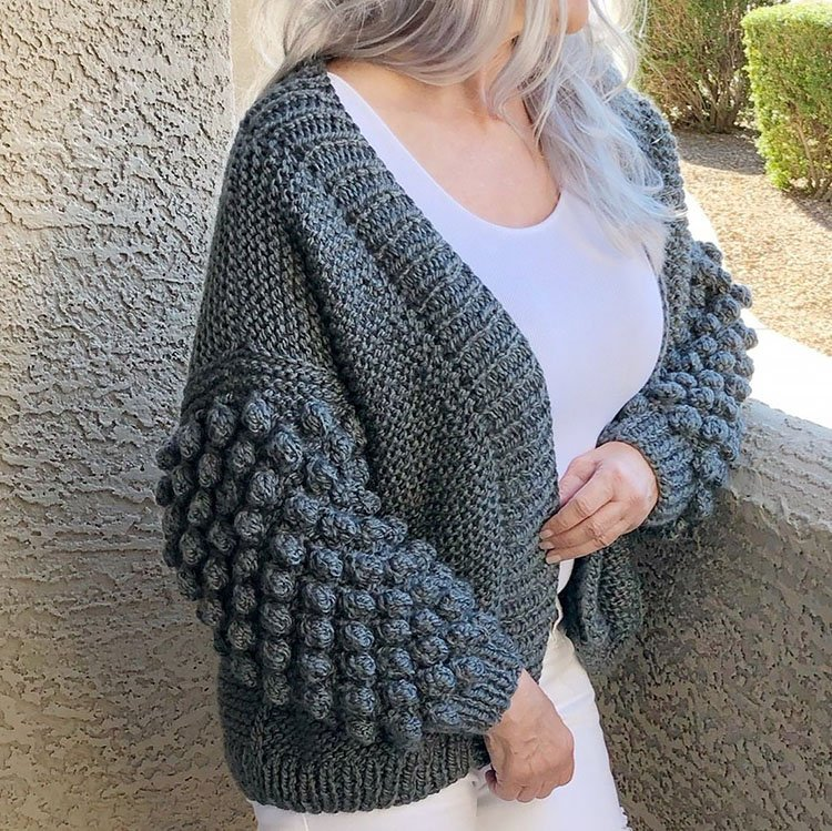 My Bobble Cardi Pattern Knitted
