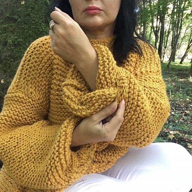 Chainmail Women Sweater Knit Pattern