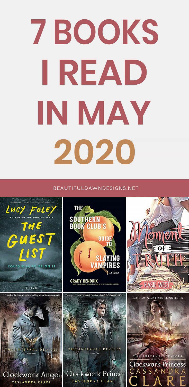 BOOKS I READ MAY 2020