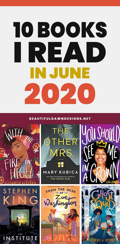 10 BOOK I READ IN JUNE 2020