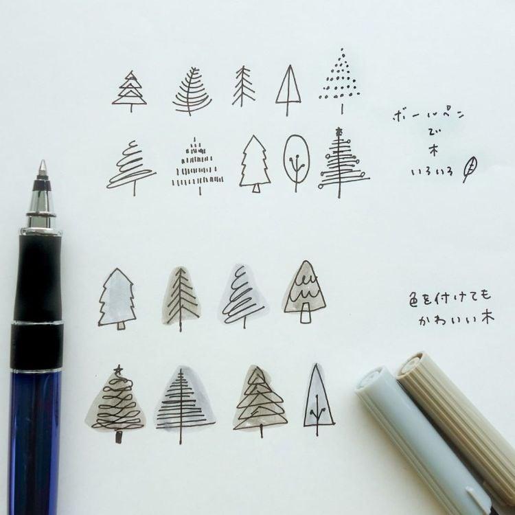 SIMPLE TREE DOODLES