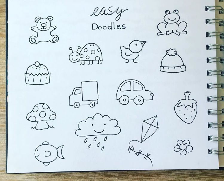 EASY DOODLES OF DUCK FROG AND MORE