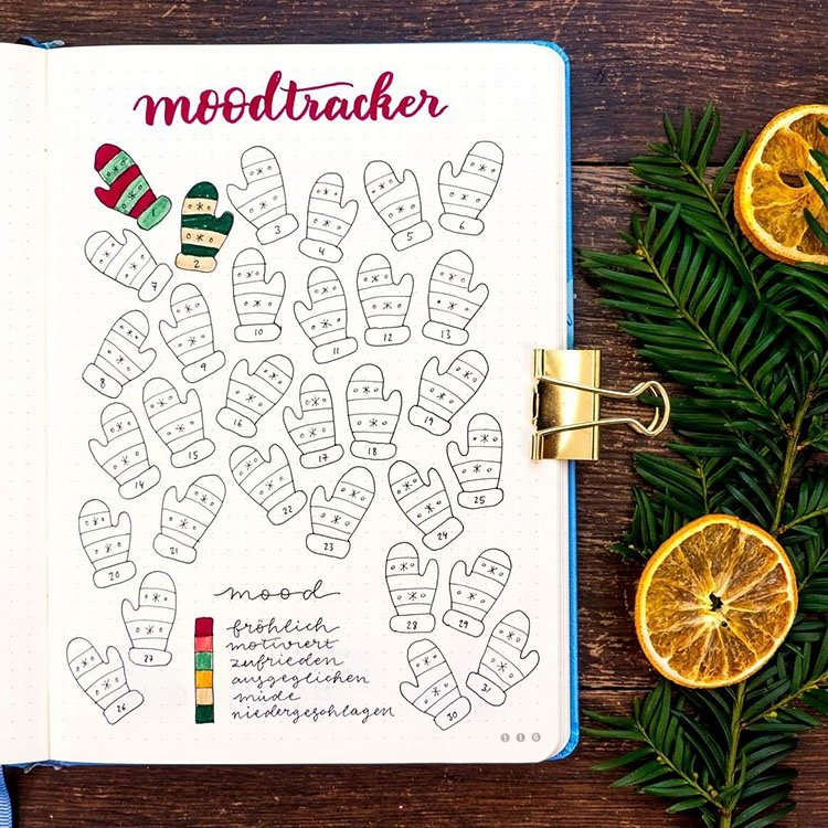 HOLIDAY MITTENS MOOD TRACKER