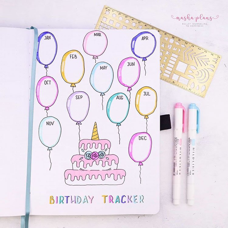BIRTHDAY TRACKER WITH BALLOONS