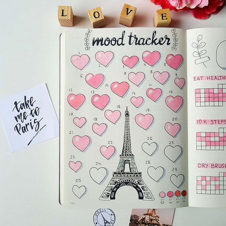 HEARTS AND THE EIFFEL TOWER