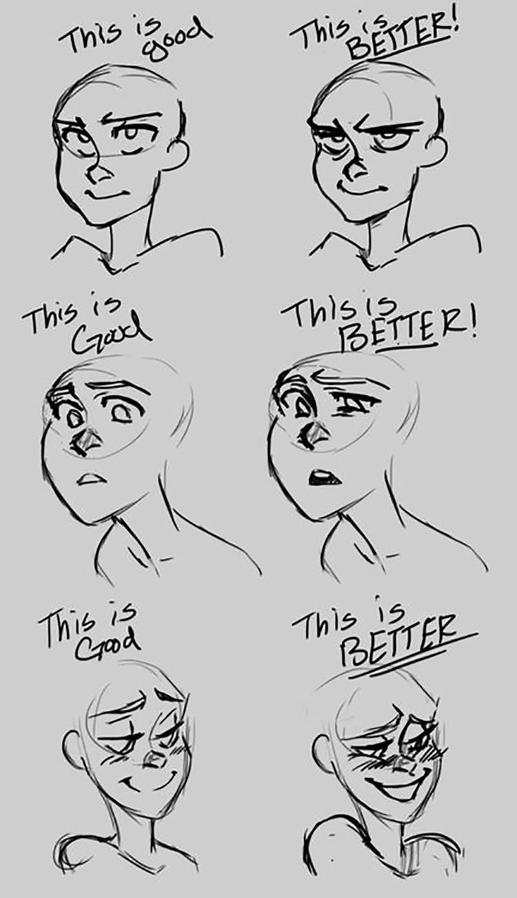 DRAWING OF BETTER AND BEST FACIAL EXPRESSIONS