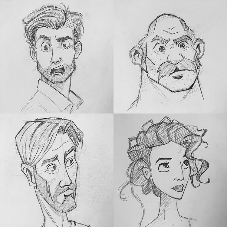 MEN AND WOMEN FACE EXPRESSIONS