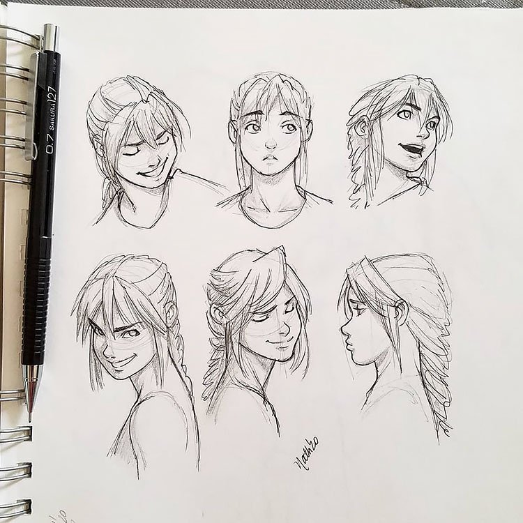 GIRL FACIAL EXPRESSION FROM DIFFERENT ANGLES