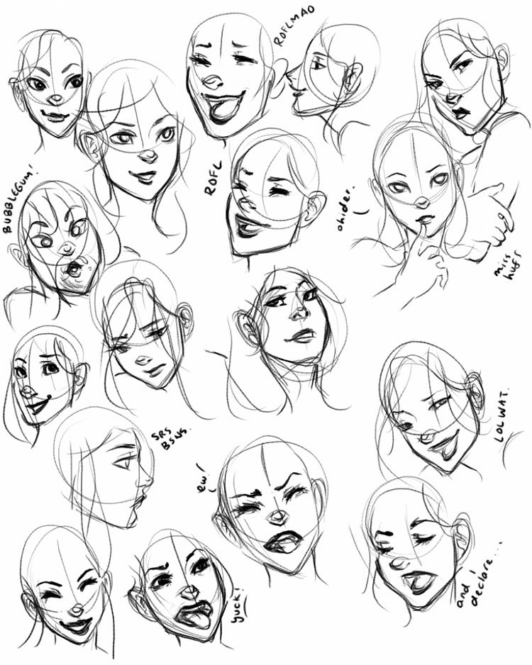 DIFFERENT EXPRESSIONS FROM WOMAN