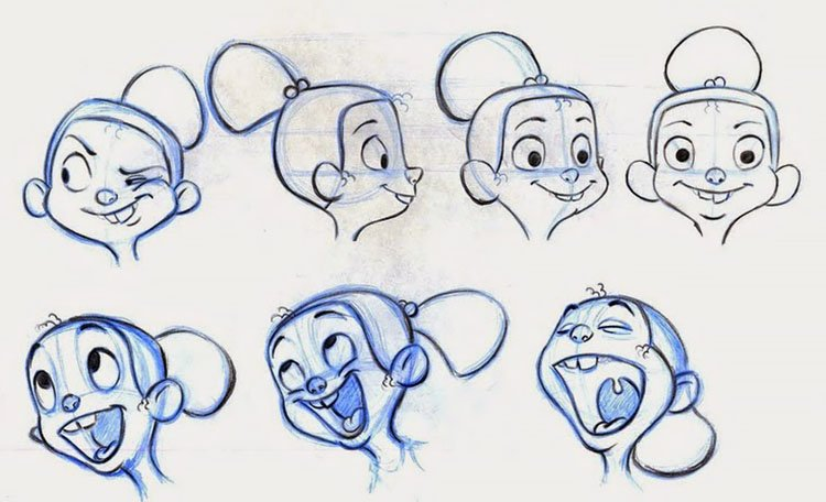 GIRL CARTOON CHARACTER FACE EXPRESSIONS