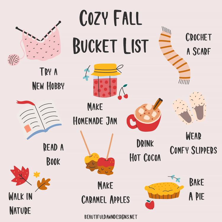 cozy fall bucket list