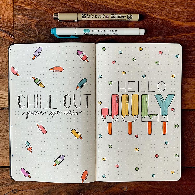 COLORFUL ICE CREAM SAYS HELLO JULY