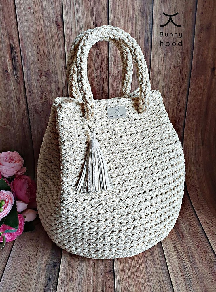 dew drop handbag crochet pattern