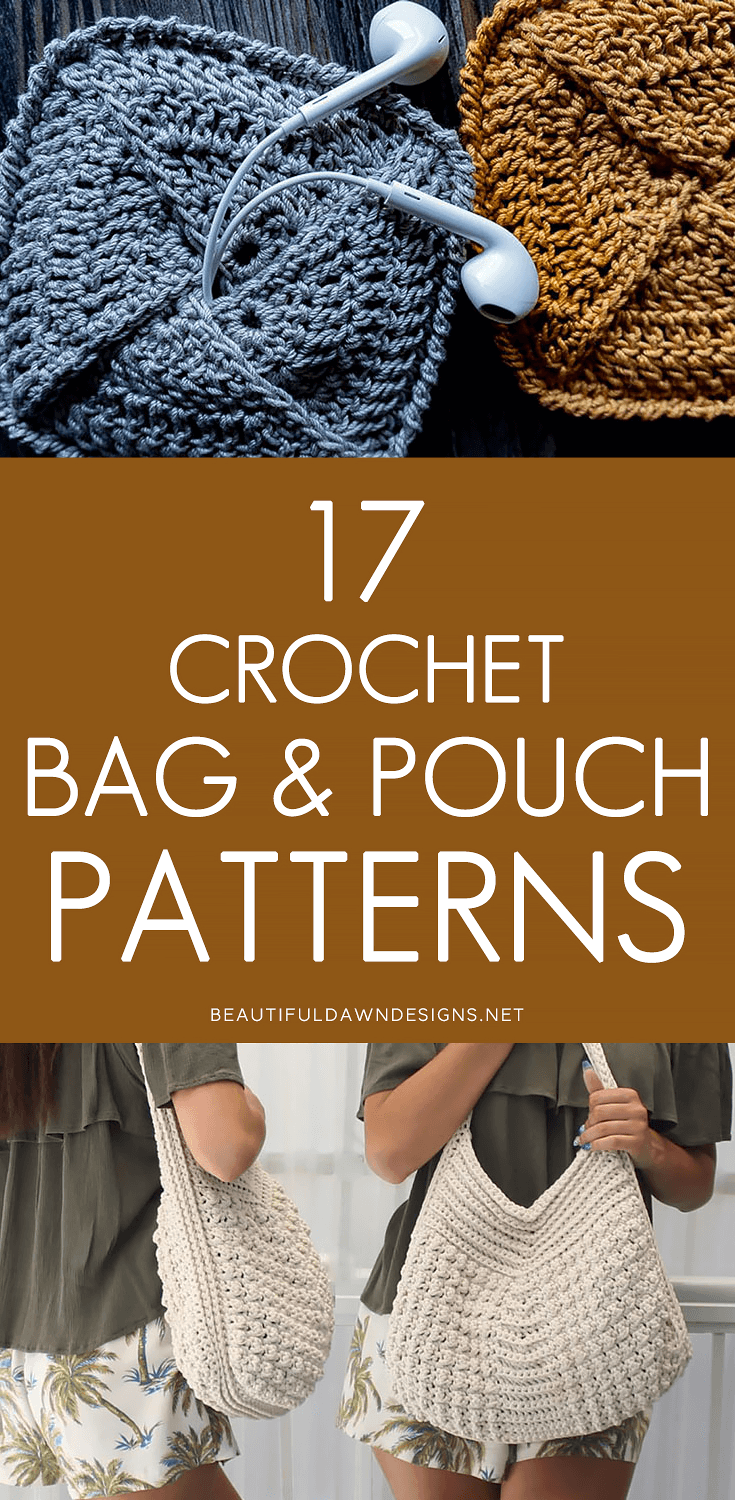Crochet handbags and pouches
