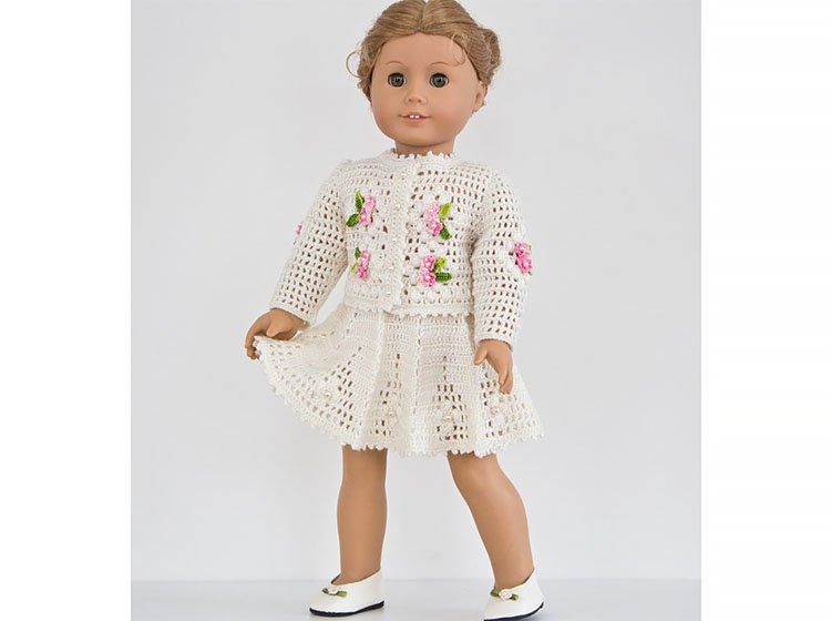 SKIRT AND TOP SET FOR AMERICAN GIRL DOLL