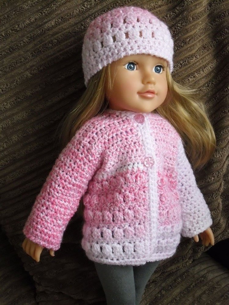 """JACKET AND HAT FOR 18"""" DOLL"""