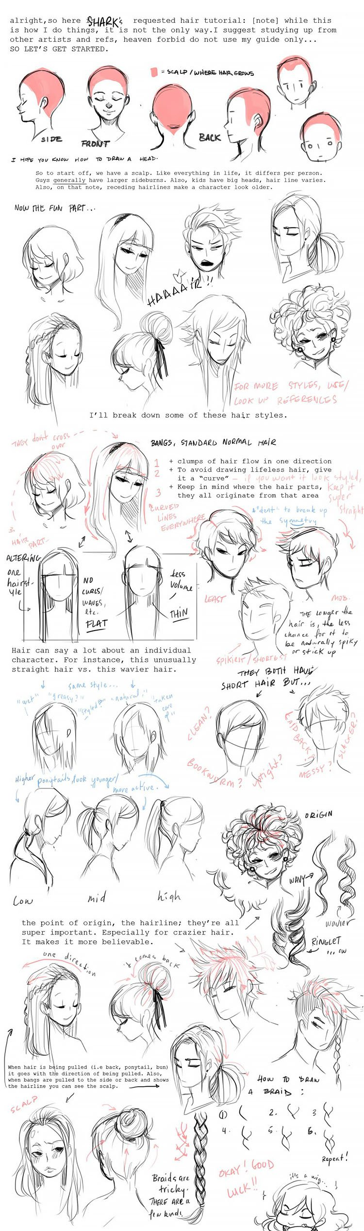 HAIR TUTORIALS GUIDE